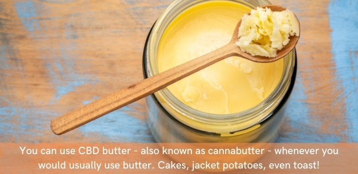 Cannabutter for cooking with CBD oil