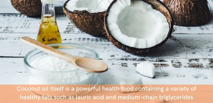 Coconut oil is the perfect carrier for cooking with CBD oil