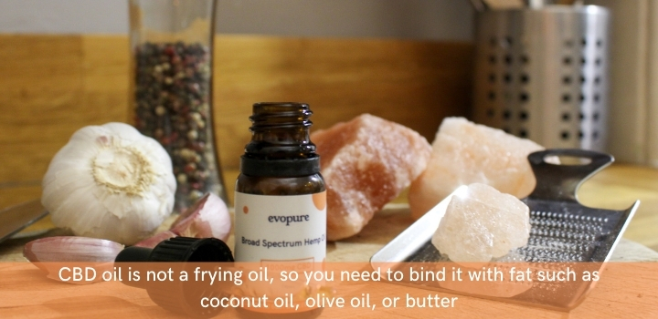 Tips for cooking with CBD oil