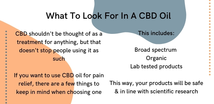 what to look for in a cbd oil for pain relief