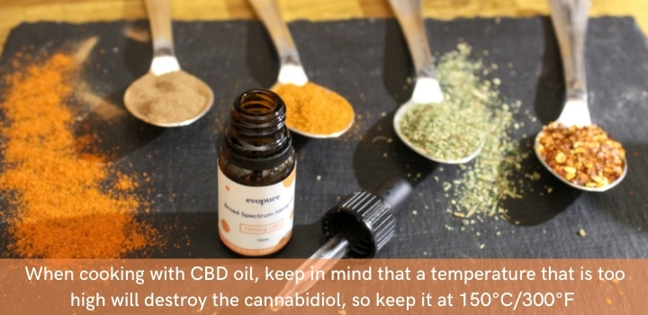 Tips for baking with CBD oil