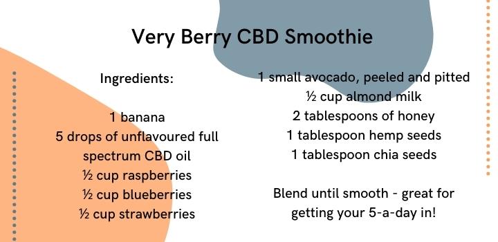 Very berry cbd smoothie recipe