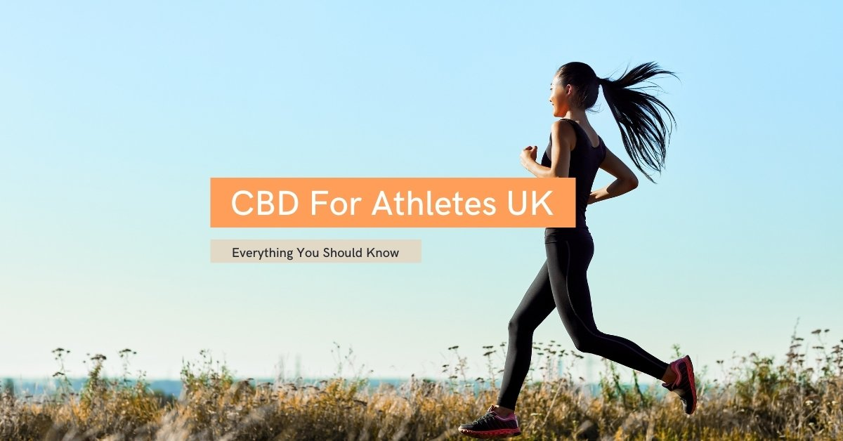 CBD For Athletes text on top of woman running