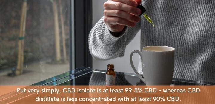CBD distillate vs CBD isolate