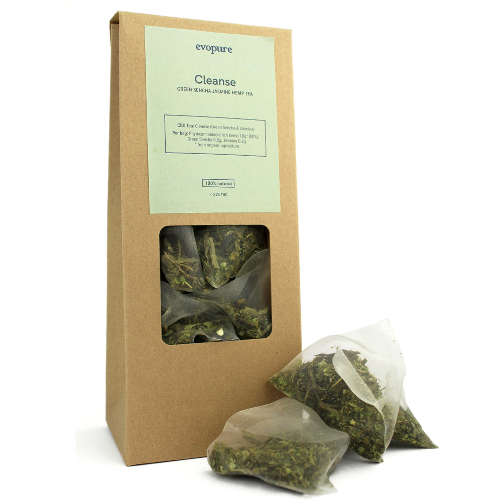 Green Sencha Hemp Tea Bags