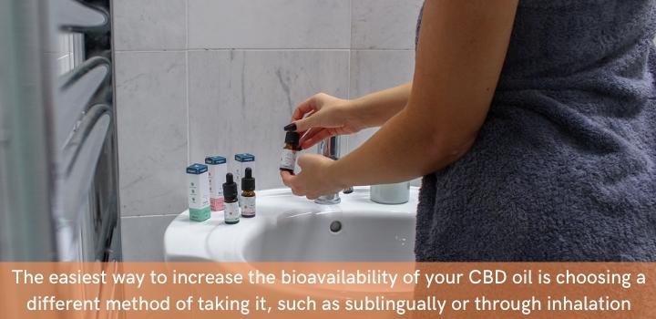 How to increase CBD oil bioavailability