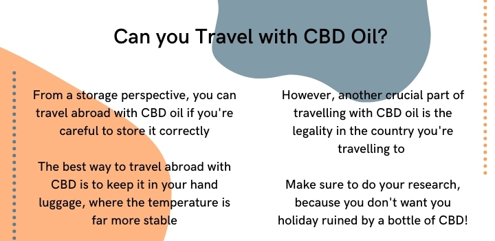 Can you travel abroad with CBD