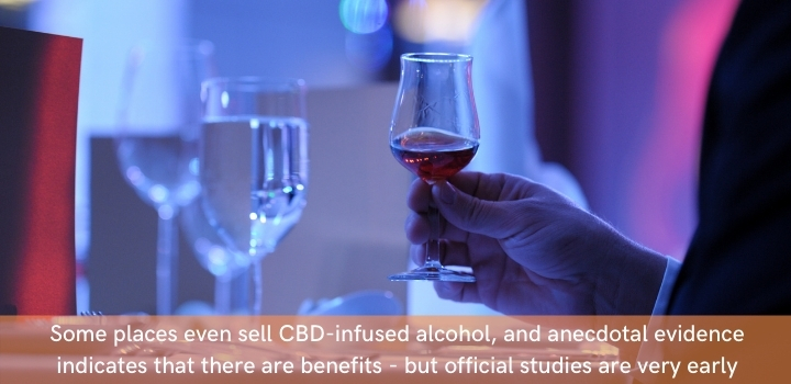 Can you mix CBD oil and alcohol?