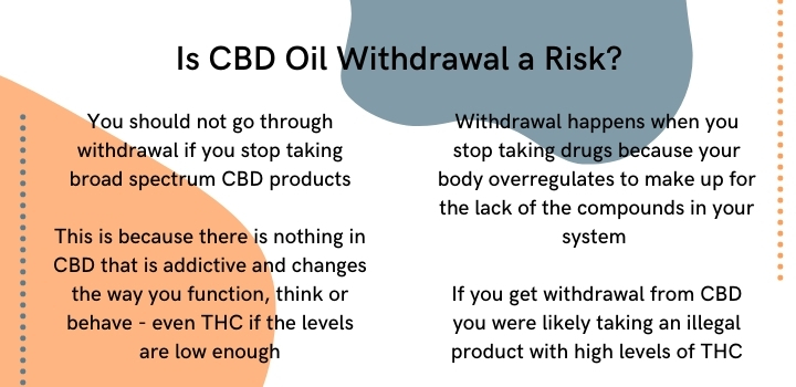 Is CBD oil withdrawal a risk?
