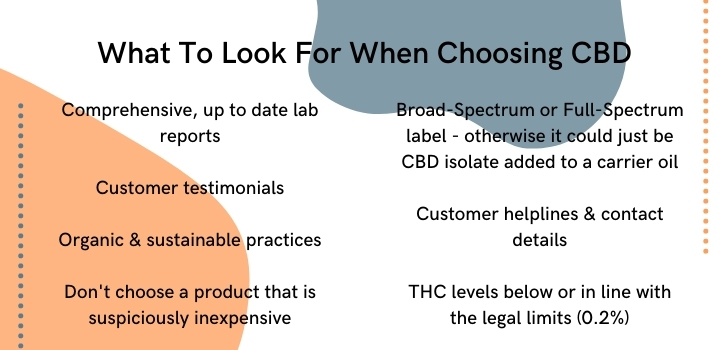 What to look for when choosing a CBD product