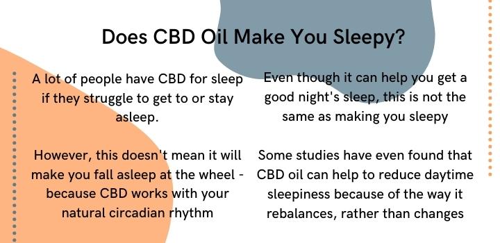 Does CBD oil make you sleepy