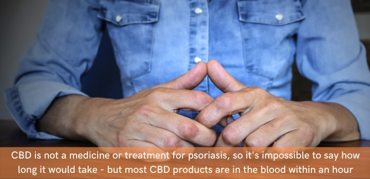 How long does it take for CBD oil to work for psoriasis