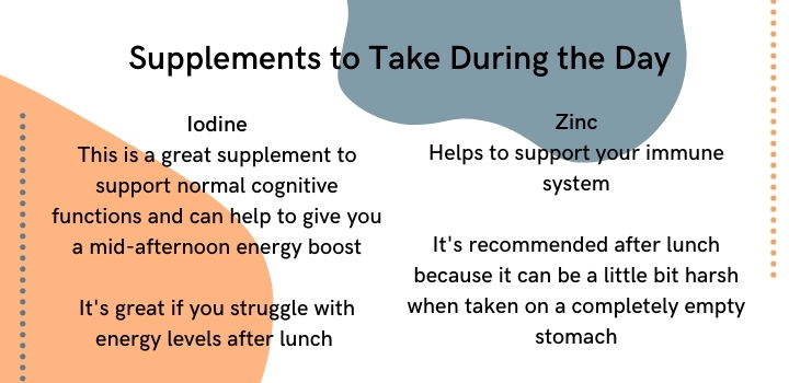 supplements to take during the day