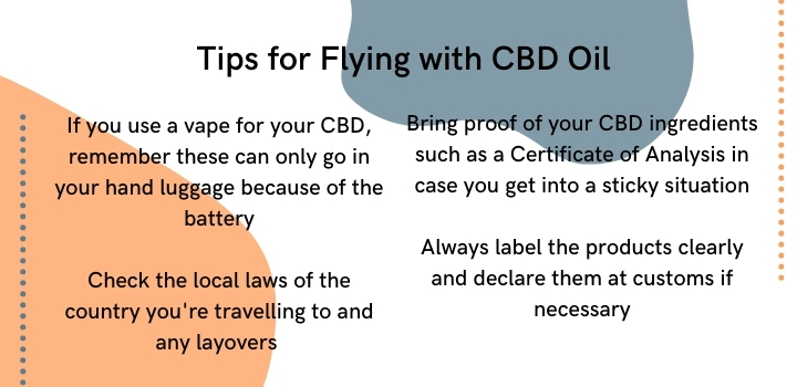 Tips for flying with CBD oil
