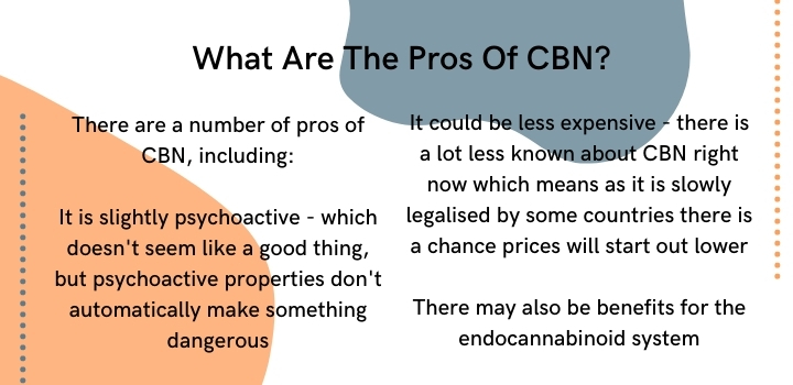 What are the pros of CBN