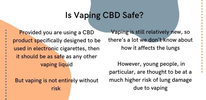 is vaping CBD safe