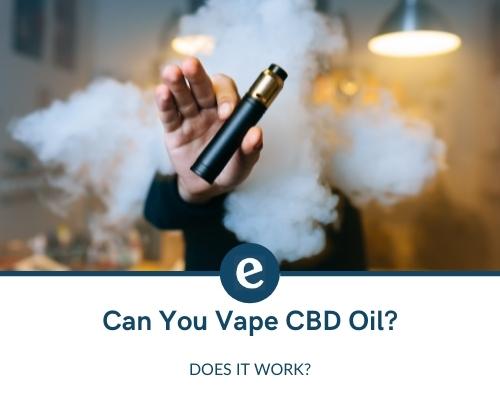 can you vape cbd oil