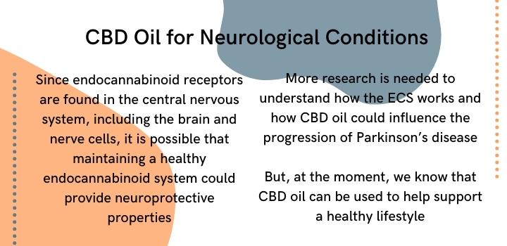 CBD oil for neurological conditions
