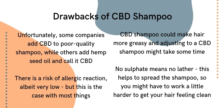 drawbacks of cbd shampoo