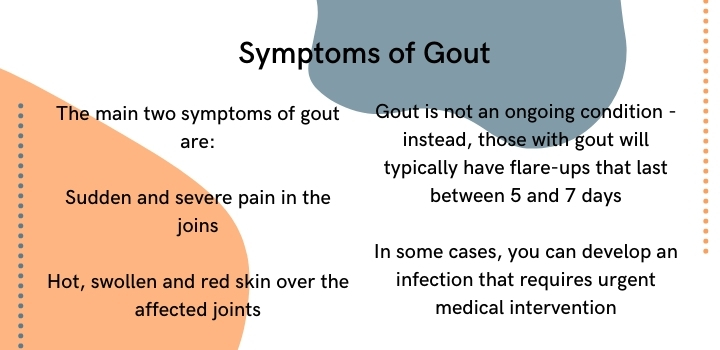 what are the symptoms of gout