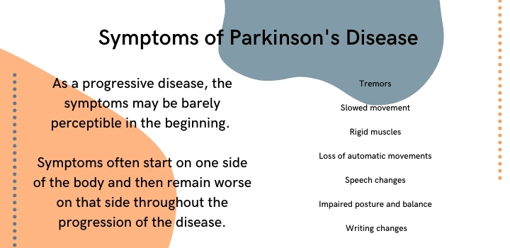 symptoms of parkinsons disease