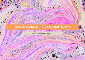 CBD oil bath bomb